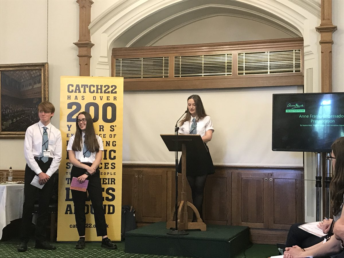 Presentation to the House of Commons on behalf of Anne Frank Trust Scotland